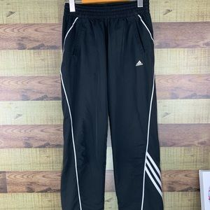Adidas climawarm 3 stripe track pants for boys